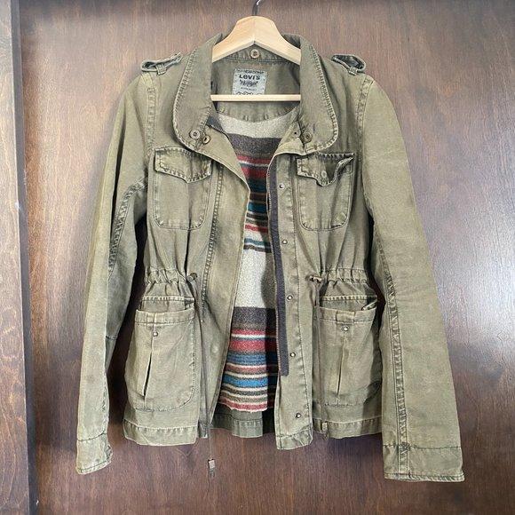 Vintage Levi's Olive Green Canvas Jacket